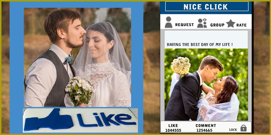 Facebook themed Wedding