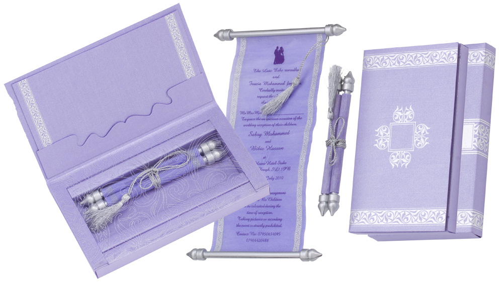 box scroll invitations